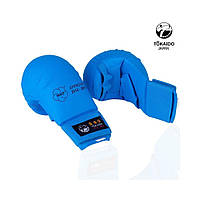 Перчатки Adidas Tokaido c защитой пальца WKF 2012-2015 синие