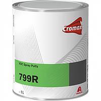 CROMAX VOC SPRAY PUTTY 799R Распыляемая жидкая шпатлевка 1л + 0,05мл отвердитель