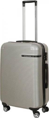 Симпатичный чемодан Vip Collection Maldivas 24 Silver на 4-х колесах 67 л MDS.24.silver, серебро