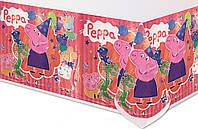 Скатерть Свинка Пеппа на День рождения в стиле Свинка Пеппа