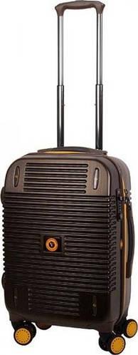 Надежный чемодан Vip Collection Bagamas 20 Brown BGS.20.brown на 4-х колесах 46 л, коричневый