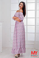 Платье в пол из штапеля НОРМА