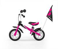 Беговел Dragon Delux з надувными колесами (розовый)