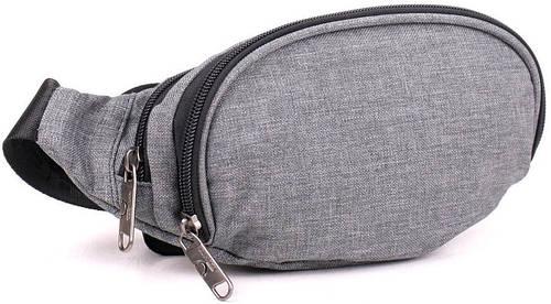 Практичная поясная сумка из меланжа Bagland 20269, серый