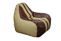 [ Simba H-2201/H-2221S M Beige-Brown ] Бескаркасное мягкое кресло-груша бежево-коричневый