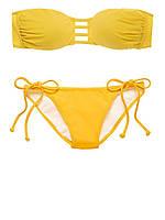 Желтый купальник-бандо Victoria's Secret