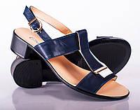 Женские босоножки на низком каблуке, 36-41 р-ры, два цвета