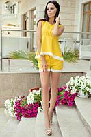 Женский летний костюм блузка без рукавов и шорты