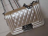 Брендовая сумочка CHANEL золото 3502