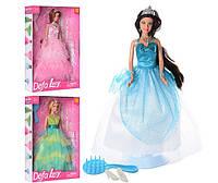 Кукла Принцесса Defa Lucy в нарядном платье, с расческой и туфлями
