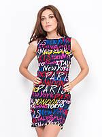 Облегающие платье с яркими надписями
