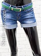 Шорты  джинсовые женские с ремнем