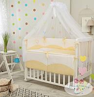 Детское постельное белье Tutti с вышивкой, желтый цвет