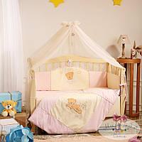 Детский постельный комплект в кроватку Tiny Love, розовый