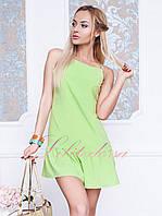 Короткое летнее платье Бити салатовое
