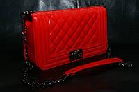 Клатч женский Chanel Le Boy (Шанель Бой), реплика, большой, красный