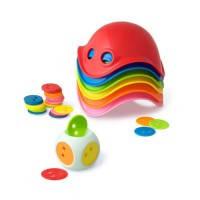 Игрушка для активных игр Мини-билибо (6 разноцветных и кубик с 36 чипами ), Moluk (43015)