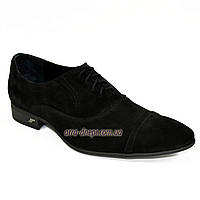 Туфли замшевые черные мужские классические