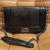 Клатч Chanel Le Boy Рептилия. Стильная женская сумочка. Высокое качество. Интернет магазин. Код: КДН231