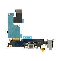 """Шлейф для iPhone 6 Plus 5.5"""", с разъёмом зарядки, коннектором наушников и микрофоном, серый"""