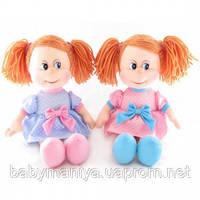 Мягкая кукла-игрушка Ляля в платье в горошек музыкальная 22см Lava