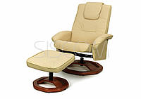 Кресло для отдыха с массажем бежевое