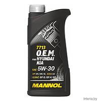 Оригинальное моторное масло MANNOL O.E.M. for Hyundai Kia 5W-30 API SN/SM/SL (1л.)