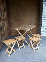 """Мебель стол+4 стула """"ДУБ"""" (мебел для дачи, для кухни, для выезда на пекник)"""