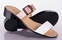 Женские шлепки-сабо на низком каблуке, разные расцветки