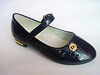 Детские лаковые туфли для девочки, стелька кожаная с супинатором, р. 26-31