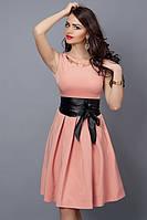 Праздничное женское платье в розовом цвете  без рукавов