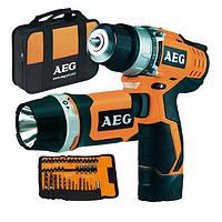 Дрель-шуруповерт AEG BS 12C2LІ-KIT2+ фонарь + принадлежности