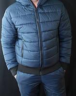 "Мужская куртка зимняя на холлофайбере ""Макс спорт"" (46-58 размер!)"