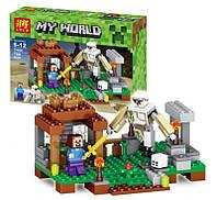 Конструктор Minecraft Lele 79258 «Атака робота», 159 деталей, 2 мини-фигурки, пластик
