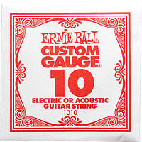Струна Ernie Ball 1010 Plain Steel .010 (акустика\электро)
