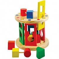 Сортувальник Циліндр деревянная игрушка  Д235