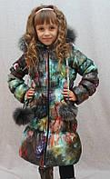 Длинное зимнее пальто, куртка для девочки Зима