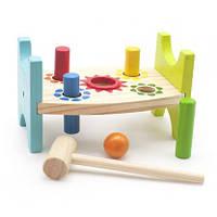 Деревянная игрушка Стучалка шарики и гвозди  Д369