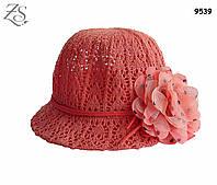 Шляпа с цветком для девочки. 52 см