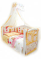 Детский постельный комплект Comfort «Садовники» (Розовый, С-007, 8 элементов), Twins
