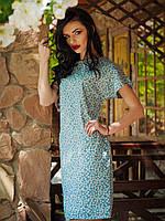 Очаровательное летнее платье из джинса в мелкий цветочек