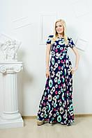 Платье в пол с цветочным принтом (42-50 р-ры)