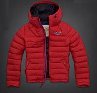 Мужская спортивная куртка от Hollister - темно-синяя, синяя, красная