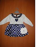 Нарядное детское платье с сумочкой 74р