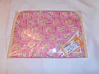 Хлопковая подкладная пеленка  с влаговпитывающим шаром (розовая)