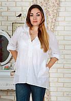 Женская легкая рубашка с капюшоном