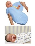 Пелёнка для пеленания на липучках с рождения до 9 мес.