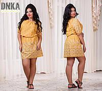 Женское летнее платье из прошвы 42-50