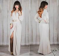 Женское длинное вечернее платье с пайетками в расцветках Л534