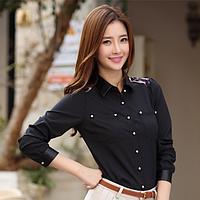 Рубашка (блузка) женская шифоновая черная